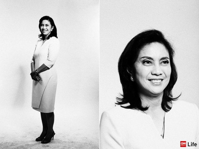 Congresswoman Leni Robredo's portrait from the VP PiliPINAS CNNphil debate was held at the UST Gymnasium last April 10, 2016. Photo from http://cnnphilippines.com/