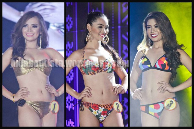 from left: #1 Rechelyn Dionico- BOLING BOLING FESTIVAL, #2 Angelica Gabriel-DAYANG DAYANG FESTIVAL and #3 Jeanebeth Sedavia- KALIVUNGAN FESTIVAL. ALIWAN held last April 14-16, 2016, is the Grand Festival of Champions showing the best of Philippine Fiestas from around the country. There are three main activities: Reyna Ng Aliwan Pageant, Street Dance and Float Competition.  It culminates in a grand parade from Quirino Grandstand going through Roxas Blvd to the Aliw Theater grounds in CCP. Photo By Jude Bautista