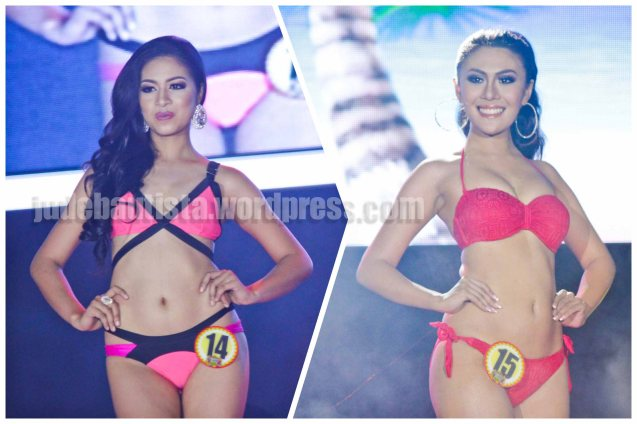 from left: #14 Deverlyn Fial Salcedo-DALAKSAGAW FESTIVAL and #15 Christel Marie Layson-PARAW REGATTA FESTIVAL. ALIWAN held last April 14-16, 2016, is the Grand Festival of Champions showing the best of Philippine Fiestas from around the country. There are three main activities: Reyna Ng Aliwan Pageant, Street Dance and Float Competition.  It culminates in a grand parade from Quirino Grandstand going through Roxas Blvd to the Aliw Theater grounds in CCP. Photo By Jude Bautista