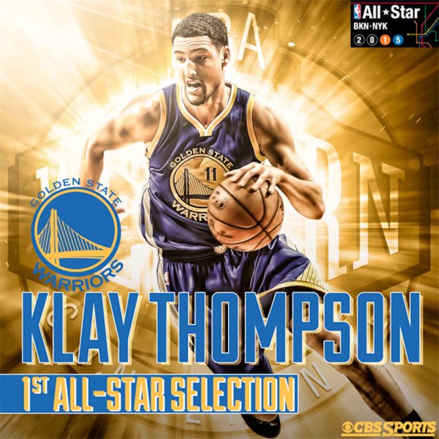 2016 was Klay Thompson's first year as an All Star. Photo from http://www.cbssports.com/nba/eye-on-basketball/25008027/nba-all-star-reserves-a-closer-look