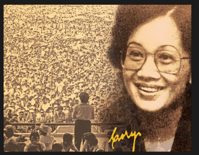 Corazon Aquino's legacy is the 1987 Constitution and restoration of democracy. Photo from http://newsinfo.inquirer.net/346517/cory-aquinos-legacy-remembered-on-her-80th-birthday-friday
