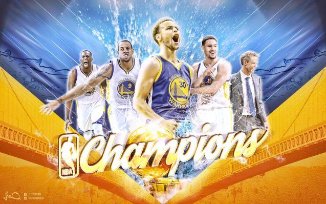 Golden State Warriors NBA Champions Wallpaper by skythlee https://www.facebook.com/leeosports