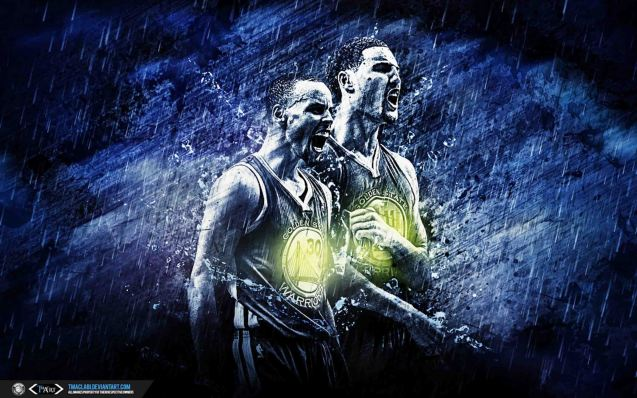 Steph Curry & Klay Thompson wallpaper by http://tmaclabi.deviantart.com/gallery/39709172/Sports-Wallpapers-and-Designs