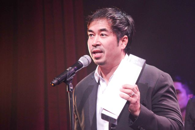 9 Works Theatrical Executive Producer Santi Santamaria- LA CAGE AUX FOLLES –Outstanding Prod of Existing Material. The 8th Philstage Gawad Buhay was held at Onstage Greenbelt last April 28, 2016. Photo by Jude Bautista