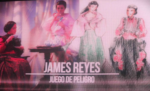 Outstanding Costume Designer James Reyes won for MABINING MANDIRIGMA but was also nominated for his work in JUEGO DE PELIGRO. The 8th Philstage Gawad Buhay was held at Onstage Greenbelt last April 28, 2016.