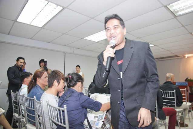 John Arcilla gave a riveting song. The 5th Indie Bravo was held at the PDI office, Dec. 11, 2014. Photo by Jude Bautista
