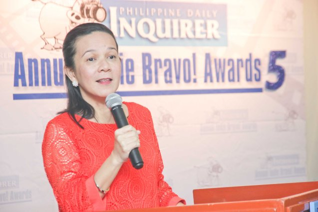 Sen. Grace Poe was the guest of honor at the 5th Indie Bravo held at the PDI office, Dec. 11, 2014. Photo by Jude Bautista