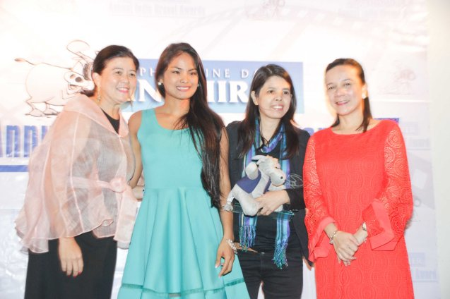 from left: PDI Pres. & CEO Sandy Prieto-Romualdez, Althea Vega, Nerissa Picadizo and Senator Grace Poe. The 5th Indie Bravo was held at the PDI office, Dec. 11, 2014. Photo by Jude Bautista