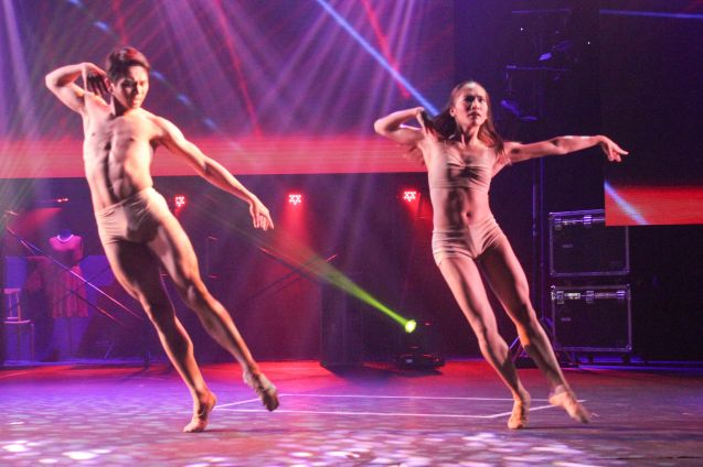 Regina Magbitang and Ian Ocampo Dancing in One Voice - Just Give me a Reason choreography by Ronilo Jaynario (Philippine Ballet Theater). The 8th Philstage Gawad Buhay was held at Onstage Greenbelt last April 28, 2016. Photo by Jude Bautista