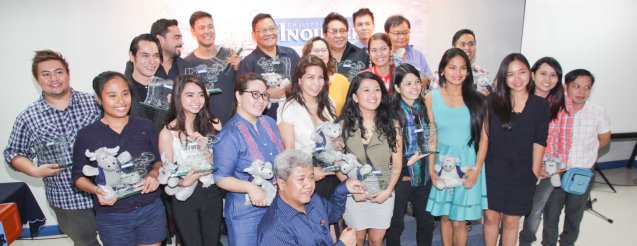 Awardees group shot. The 5th Indie Bravo was held at the PDI office, Dec. 11, 2014. Photo by Jude Bautista