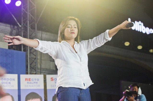 Angeline Quinto; The Partido Galing at Puso Miting De Avance was held at Plaza Miranda, Quiapo, Manila last May 7, 2016. Photo by Jude Bautista