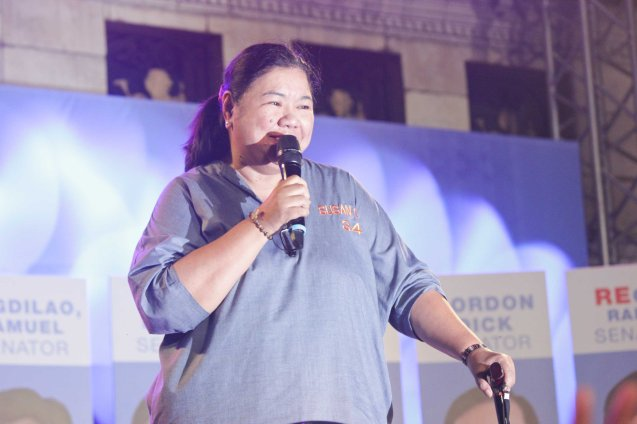 Senatorial candidate Susan Ople is a champion of OFWs. The Partido Galing at Puso Miting De Avance was held at Plaza Miranda, Quiapo, Manila last May 7, 2016. Photo by Jude Bautista