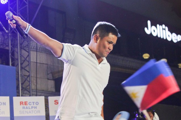 OPM Pres. Ogie Alcasid; The Partido Galing at Puso Miting De Avance was held at Plaza Miranda, Quiapo, Manila last May 7, 2016. Photo by Jude Bautista