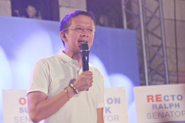 Sen. Chiz Escudero; The Partido Galing at Puso Miting De Avance was held at Plaza Miranda, Quiapo, Manila last May 7, 2016. Photo by Jude Bautista