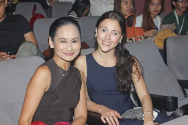 Ballet Manila Artistic Director Lisa Macuja Elizalde and Missy Macuja Elizalde. Lisa received BM's 5 awards: Outstanding Modern Prod-BLOOM, Pia Dames-Female Feat. Perf. In Classical Dance, Gerardo Francisco - Male Lead Perf Modern Dance, Male Feat Perf. In Classical Dance, Outstanding Ensemble Perf for Modern Dance- BLOOM. The 8th Philstage Gawad Buhay was held at Onstage Greenbelt last April 28, 2016. Photo by Jude Bautista
