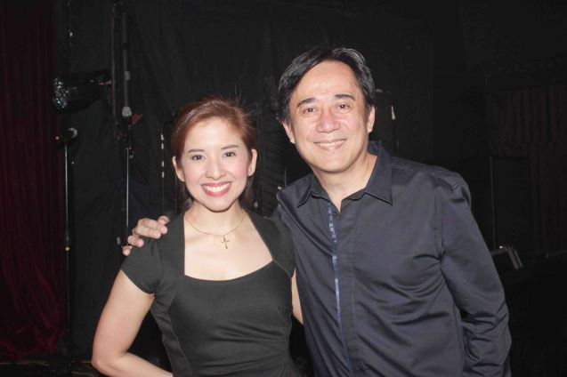 Award show director Jenny Jamora and Audie Gemora- The 8th Philstage Gawad Buhay was held at Onstage Greenbelt last April 28, 2016. Photo by Jude Bautista