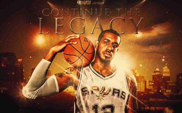 LaMarcus Aldridge going to the Spurs made them very early favorites of winning the crown. Wallpaper from http://www.garygraffix.com/basketball-wallpapers4.html