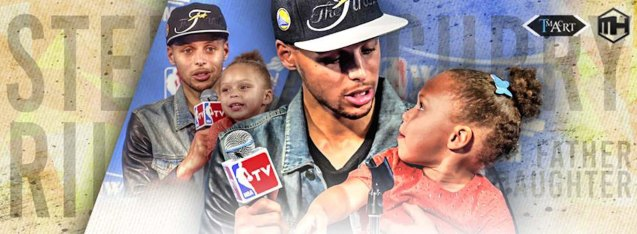 Steph & daughter Riley by Samuel & Michael NBA Wallpapers https://www.facebook.com/Samuel-and-Michael-NBA-Wallpapers-265350083609824/