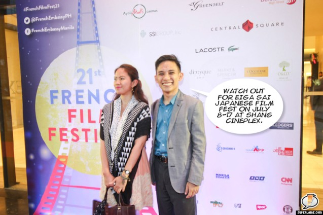 Catch UN+UNE in the 21st French Film Festival from June 8 to 14, 2016 at the Greenbelt 3 Cinemas and the Bonifacio High Street Cinemas. The fest includes Pinoy films IMBISIBOL & MANANG BIRING on June 12 at Greenbelt. Photo by Jude Bautista