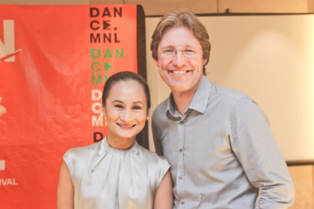 Hotel Jen GM Edward Kollmer and Ballet Manila Artistic Dir. Lisa Macuja. DANCE MNL press launch was held at Hotel Jen May 11, 2016. Dance MNL: The Philippine Dance Festival will run from June 14-20, 2016 at CCP, Aliw Theater and Star Theater. Photo by Jude Bautista