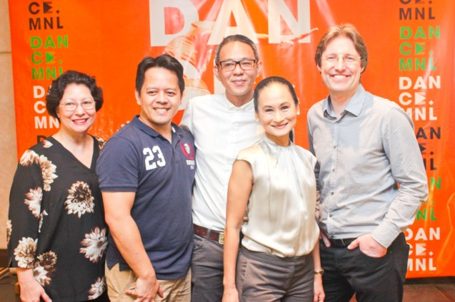 from right: Hotel Jen GM Edward Kollmer, Ballet Manila Artistic Dir. Lisa Macuja, BP Artistic Dir. Paul Alexander Morales, PBT Artistic Dir Ron Jaynario and PBT Pres Sylvia Lichauco-De Leon. DANCE MNL press launch was held at Hotel Jen May 11, 2016. Dance MNL: The Philippine Dance Festival will run from June 14-20, 2016 at CCP, Aliw Theater and Star Theater. Photo by Jude Bautista