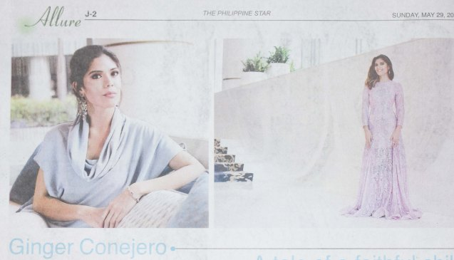 Ginger Conejero of ABS CBN was featured in Phil Star's Women of Allure last May 29, 2016. Photo was taken at SHANG RILA Fort Bonifacio, Manila by Rita Marie.