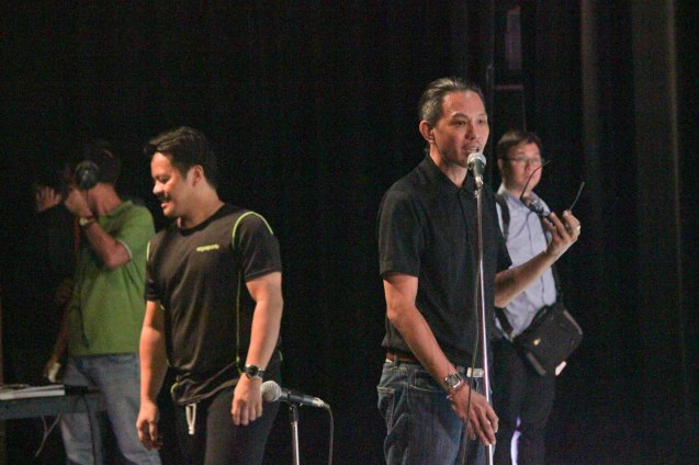 from right: BP artistic Dir Paul Alexander Morales & PBT Artistic Dir Ron Jaynario during the PBT@30 (An Invitational Open Rehearsal) at the CCP Main theater last June 22, 2016. Photo by Jude Bautista