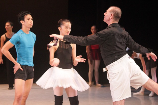 PBT's Anatoly Panasyukov conducted master classes in ballet. And also assisted during the PBT@30 (An Invitational Open Rehearsal) at the CCP Main theater last June 22, 2016. Photo by Jude Bautista
