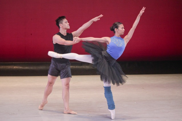 Jared Tan (Atlanta Ballet) & Lobreza Pimentel performs Black Swan during the PBT@30 (An Invitational Open Rehearsal) at the CCP Main theater last June 22, 2016. Photo by Jude Bautista