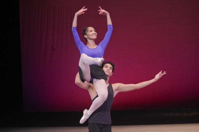 PBT's Regina Magbitang & Matthew Davo perform Flames of Paris during the PBT@30 (An Invitational Open Rehearsal) at the CCP Main theater last June 22, 2016. Photo by Jude Bautista