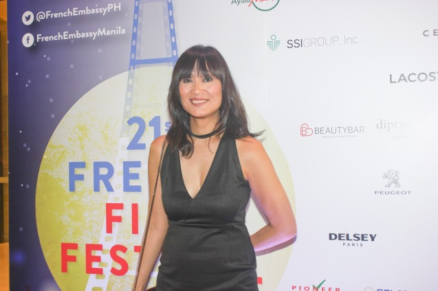 Summit Media Editorial Dir Myrza Sison; Catch the 21st French Film Festival from June 8 to 14, 2016 at the Greenbelt 3 Cinemas and the Bonifacio High Street Cinemas. The fest includes Pinoy films IMBISIBOL & MANANG BIRING on June 12 at Greenbelt. Photo by Jude Bautista