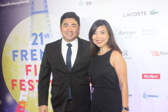 Jorge Bocobo and Chi Datu-Bocobo; Catch the 21st French Film Festival from June 8 to 14, 2016 at the Greenbelt 3 Cinemas and the Bonifacio High Street Cinemas. The fest includes Pinoy films IMBISIBOL & MANANG BIRING on June 12 at Greenbelt. Photo by Jude Bautista