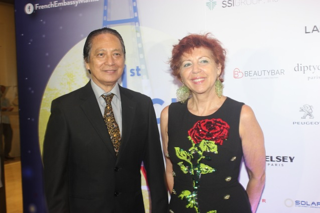 Ramon & Silvana Diaz; Catch the 21st French Film Festival from June 8 to 14, 2016 at the Greenbelt 3 Cinemas and the Bonifacio High Street Cinemas. The fest includes Pinoy films IMBISIBOL & MANANG BIRING on June 12 at Greenbelt. Photo by Jude Bautista