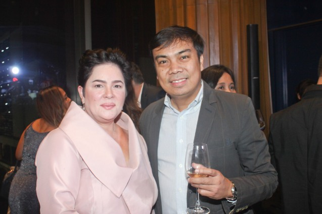 Cannes Best Actress Jaclyn Jose and Primer Group AVP Darwin Bañez. Catch the 21st French Film Festival from June 8 to 14, 2016 at the Greenbelt 3 Cinemas and the Bonifacio High Street Cinemas. The fest includes Pinoy films IMBISIBOL & MANANG BIRING on June 12 at Greenbelt. Photo by Jude Bautista