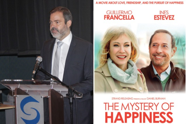 Argentinian Amb. Roberto Bosch; Catch THE MYSTERY OF HAPPINESS and other films for free at Argentinian Film Festival 2016 from August 19-22, 2016 at Shang Cineplex, Shang Rila Plaza Mall.