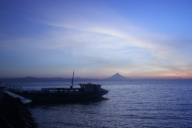 Mayon Volcano can be seen from the port of Claveria, Burias-May 18-19, 2015. Photo by Jude Bautista