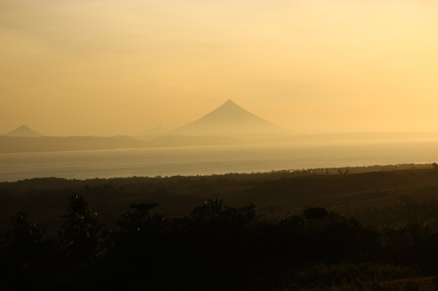 Mayon Volcano seen from the hilltop that Raf raf Gueta brought me in Claveria, Burias-May 18-19, 2015. Photo by Jude Bautista