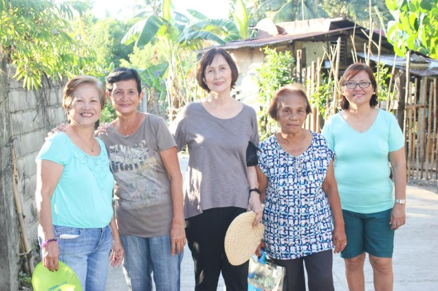 from left: Nanette Montenegro, Annie Puyo, Beth Javier, Nana Tely Gomez and Rose Lizo; Claveria, Burias-May 18, 2015. Photo by Jude Bautista