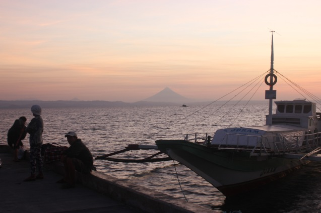 A large lantsa waits for passengers at daybreak Claveria, Burias-May 19, 2015. Photo by Jude Bautista