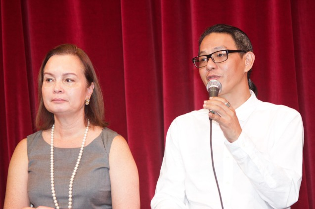 from left: BP Pres. Margie Moran and BP Artistic Dir. Paul Morales. Catch BP's FIREBIRD AND OTHER BALLETS at the CCP Main Theater from Aug 19-21, 2016. Photo by Jude Bautista