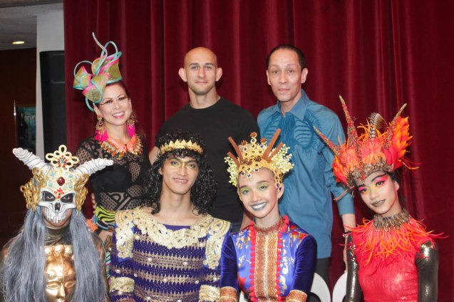 standing from left: Sea Princess Tessa Prieto Valdes, Choreographer George Birkadze and Costume Designer Mark Higgins seated from left: Cyril Fallar (Koschei), Garry Corpuz (Pearl Merchant), Denise Parungao (Spice Princess) and Rita Angela Winder (Firebird). Catch BP's FIREBIRD AND OTHER BALLETS at the CCP Main Theater from Aug 19-21, 2016. Photo by Jude Bautista