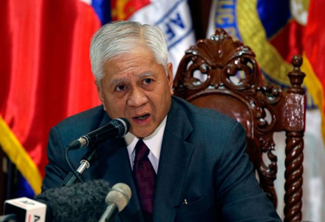Former Foreign Affairs Sec. Albert Del Rosario fought for Phil interests at The Hague, Intl court.