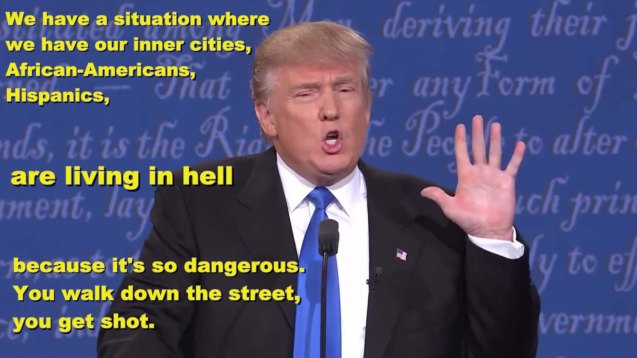 Trump: African Americans, Hispanics are living in hell.