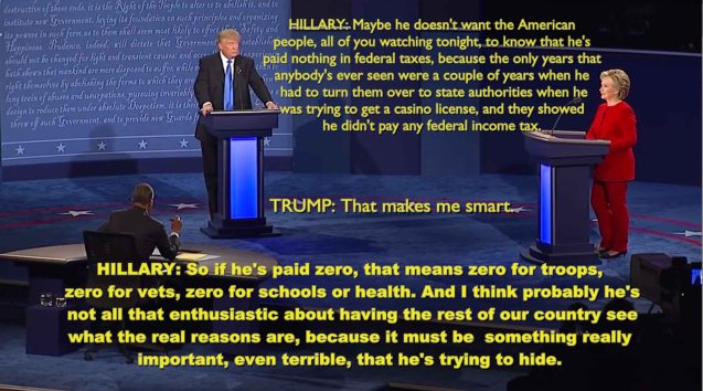 Avoiding federal taxes according to Trump makes him smart.