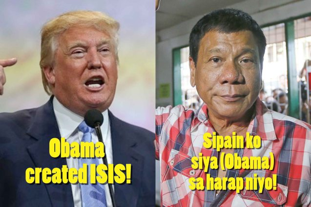 Hitler's modern day heirs: Trump, Duterte and Putin.