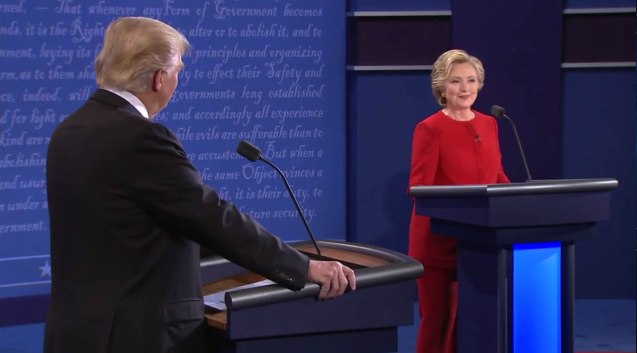 Hillary smiled a lot during this debate. The first U.S. Presidential Debate 2016 was held at Hofstra University, September 26, 2016.