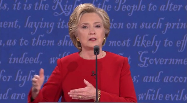 Hillary calmly responded with facts and clarity. The first U.S. Presidential Debate for 2016 was held at Hofstra University, September 26, 2016.