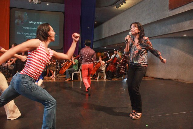 Cooky Chua dances with Jean Marc Cordero; BP's AWITIN MO AT ISASAYAW KO will run from Dec 2-11, 2016 at the CCP Main Theater (Tanghalang Nicanor Abelardo). Photo by Jude Bautista