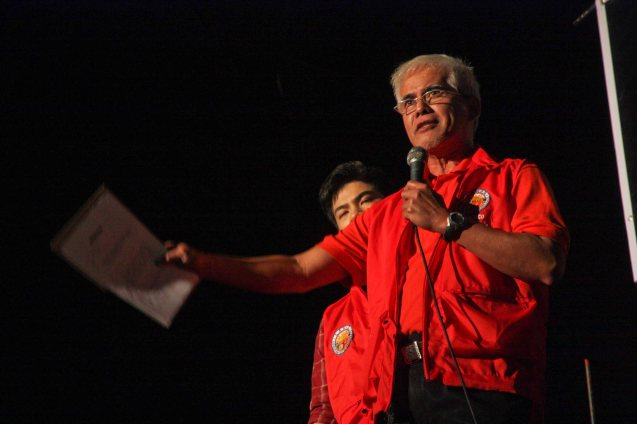 Nonoy Froilan as dirty politician Santiago Sr in Tanghalang Pilipino's WALANG KUKURAP (2012). BP's AWITIN MO AT ISASAYAW KO will run from Dec 2-11, 2016 at the CCP Main Theater (Tanghalang Nicanor Abelardo). Photo by Jude Bautista
