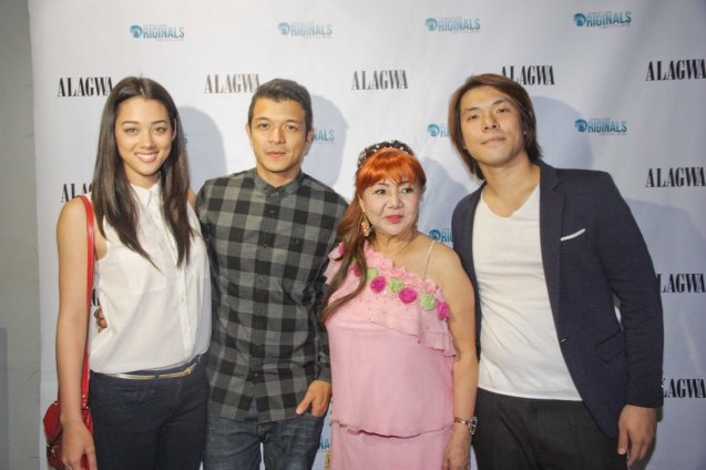 from left: Kim Jones, Echo Rosales, Exec Producer Gloria Lao and Director Ian Loreños. Photo was taken at ALAGWA premiere in Shang Cineplex during the Cinema One fest back in 2012. Photo by Jude Bautista